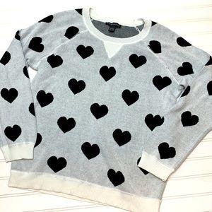 INC International Concepts heart sweater L